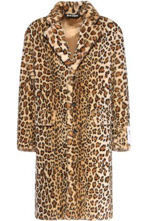 PALM ANGELS Leopard Faux Fur Coat