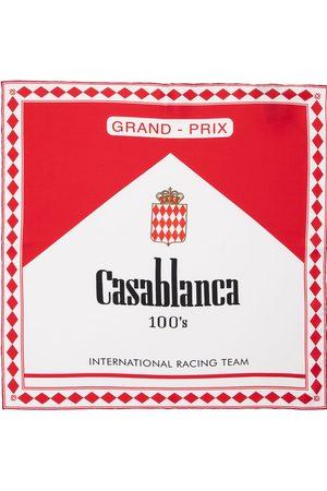CASABLANCA Printed Small Silk Twill Scarf
