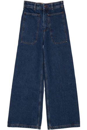 LES COYOTES DE PARIS High Waist Cotton Jeans