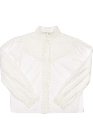 LES COYOTES DE PARIS Lace Cotton Poplin Shirt