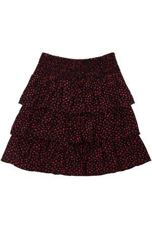 LES COYOTES DE PARIS Ruffled Printed Viscose Skirt
