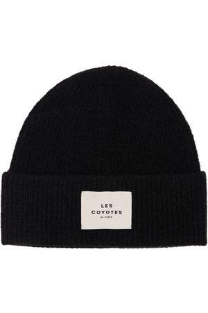 LES COYOTES DE PARIS Logo Patch Knit Beanie Hat