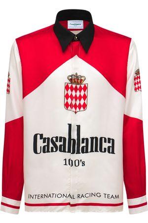 CASABLANCA Men Shirts - Printed Silk Twill Shirt