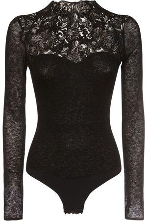ERMANNO SCERVINO Lace Knit Long Sleeve Bodysuit
