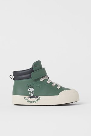 H & M Kids Sneakers - Faux Shearling-lined High Tops