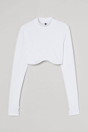 H & M Long-sleeved Crop Top