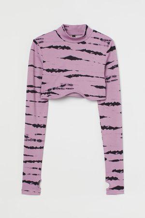 H & M Women Crop Tops - Long-sleeved Crop Top