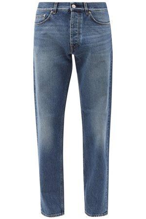 Sunflower Men Straight - Mid-wash Organic-cotton Straight-leg Jeans - Mens