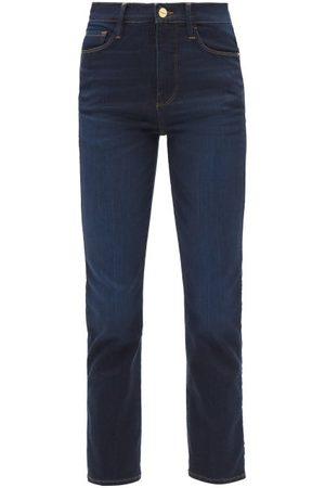 Frame Le Sylvie High-rise Straight-leg Jeans - Womens - Dark Denim