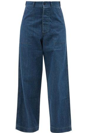 CHIMALA Women High Waisted - High-rise Wide-leg Jeans - Womens - Mid Denim