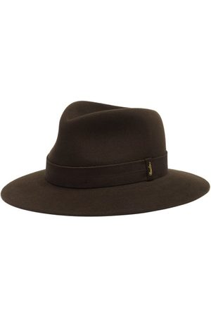 Borsalino Men Hats - Brushed Felt Fedora Hat - Mens