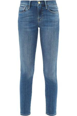 Frame Le Skinny De Jeanne Mid-rise Cropped Jeans - Womens - Mid Denim