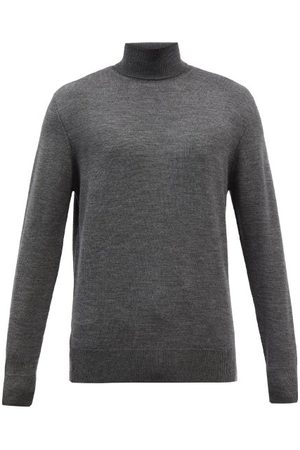 Raey Mercerised Merino Wool Roll-neck Sweater - Mens - Charcoal