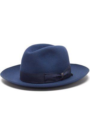 Borsalino Men Bow Ties - Bow-tied Felt Fedora Hat - Mens - Light