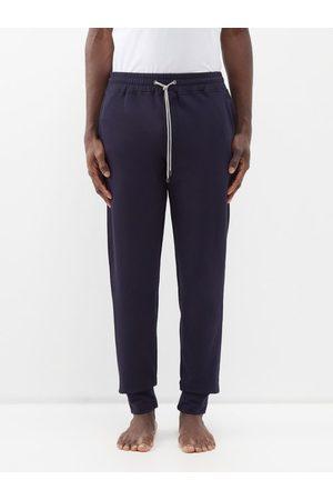 Zimmerli Men Skinny Pants - Slim-leg Modal-blend Jersey Pyjama Trousers - Mens - Navy