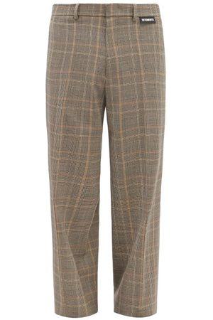 Vetements Checked Wide-leg Suit Trousers - Mens