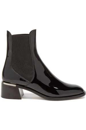 Jimmy Choo Rourke Patent-leather Chelsea Boots - Womens
