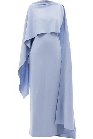 Roksanda Demetria Asymmetric Wool-jersey Dress - Womens - Light