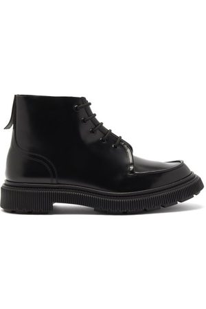 ADIEU PARIS Men Ankle Boots - Chunky-sole Leather Ankle Boots - Mens