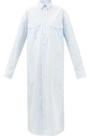 WARDROBE.NYC Release 07 Striped Cotton-poplin Shirt Dress - Womens