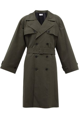 Raey Oversized Cotton-blend Trench Coat - Mens - Khaki