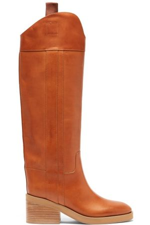 Jimmy Choo Tonya Leather Knee-high Boots - Womens - Tan