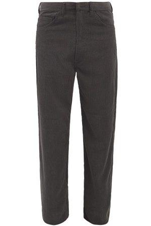 Sasquatchfabrix. Men Wide Leg Pants - Flared Cotton-corduroy Trousers - Mens