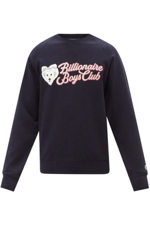 Billionaire Boys Club Logo-print Cotton Sweatshirt - Mens - Navy