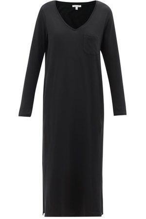 SKIN Women Casual Dresses - Clara V-neck Organic Pima-cotton Jersey Dress - Womens