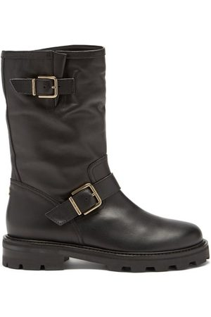 Jimmy Choo Biker Ii Buckled Leather Boots - Womens