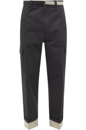 CRAIG GREEN Men Cargo Pants - Turn-up Cuff Ripstop-cotton Cargo Trousers - Mens