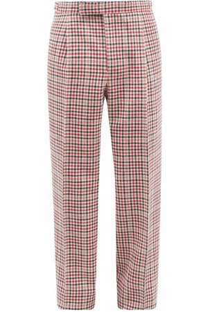 Thom Browne Houndstooth-check Wool Suit Trousers - Mens