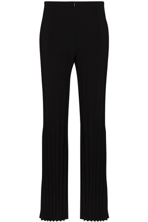 A.W.A.K.E. MODE Women Wide Leg Pants - Pleated flare trousers