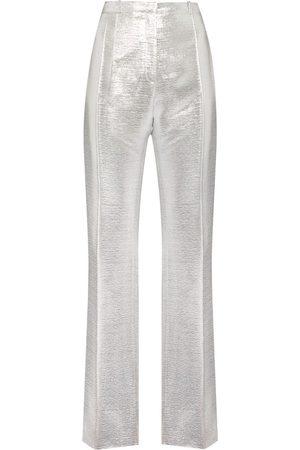 Paco Rabanne Metallic-sheen tailored trousers