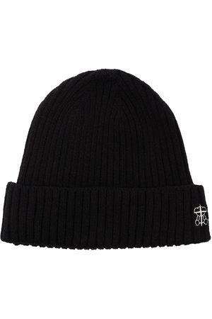 UNDERCOVER Men Beanies - Logo-embroidered ribbed-knit beanie