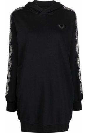 Philipp Plein Women Hoodies - Crystal-embellished hoodie dress