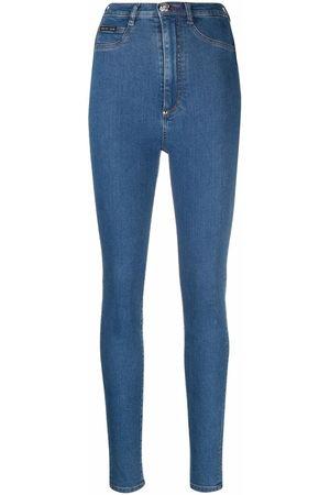 Philipp Plein Women High Waisted - High-waist jegging jeans