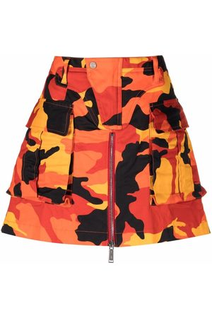Dsquared2 Women Printed Skirts - Camouflage-print A-line skirt