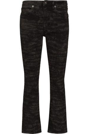 R13 Women Bootcut - Kick Fit zebra print bootcut jeans