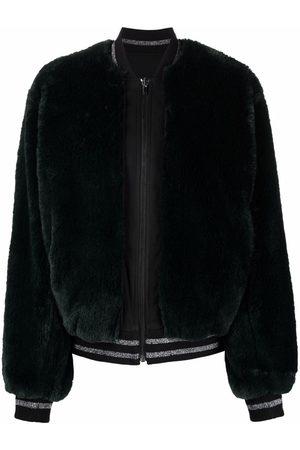 Karl Lagerfeld Women Bomber Jackets - Sequin-embellished bomber jacket