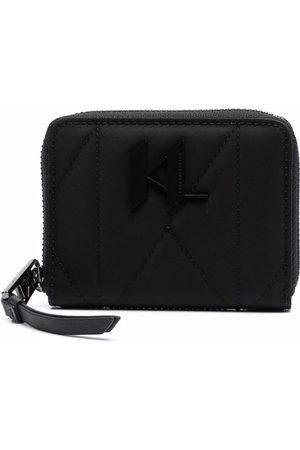 Karl Lagerfeld Women Wallets - Logo-plaque zip-up wallet
