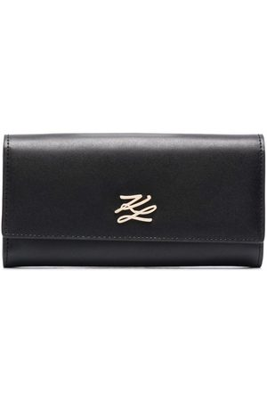 Karl Lagerfeld K/Autograph leather foldover wallet