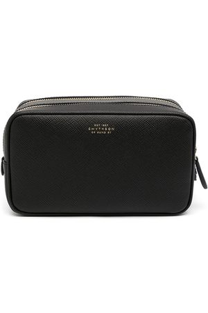 SMYTHSON Toiletry Bags - Panama grained leather zip-up wash bag