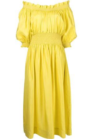 Cynthia Rowley Women Strapless Dresses - Off-shoulder silk dress