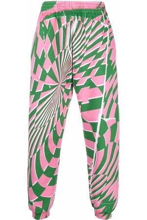 Stella McCartney Sweatpants - X Ed Curtis geometric pattern track pants