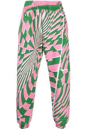Stella McCartney X Ed Curtis geometric pattern track pants