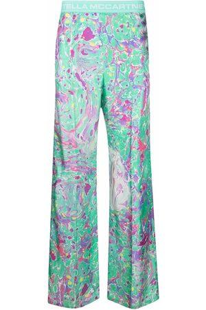 Stella McCartney X Ed Curtis oil swirl trousers