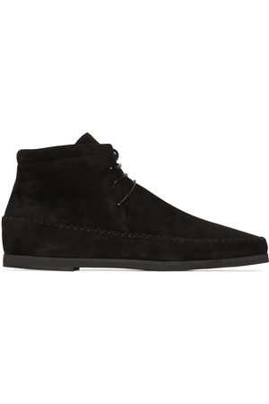 Totême Women Sneakers - High-top moccasin-style leather boots