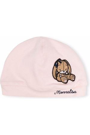Monnalisa Hats - Bunny logo knitted hat