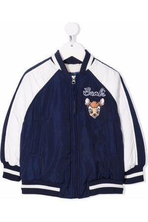 MONNALISA Girls Bomber Jackets - Bambi-embroidered bomber jacket